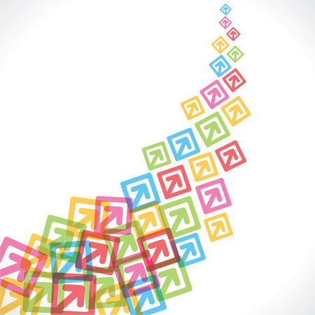moving up: colorful arrow move up background vector Illustration