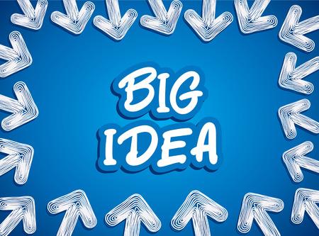 flash point: creative baarow focs to big idea background concept vector