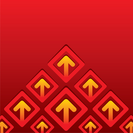 creative business arrow move up background vector Illustration