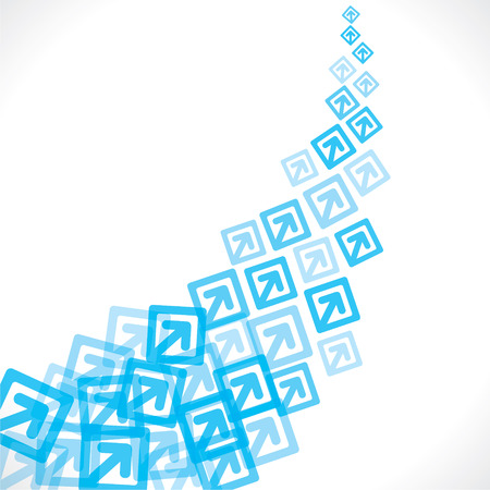 blue arrow move up background vector Vector