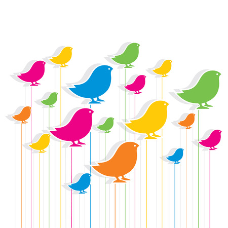 colorful bird design pattern background vector Vector