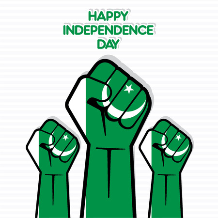 presidents' day: Independence Day of Pakistan, Flag of Pakistan hand design vector
