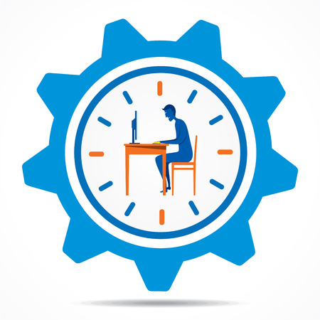 creative work on time design concept Vector