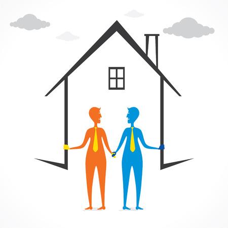 design your dream home design concept vector Иллюстрация