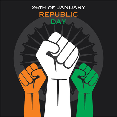 happy republic day greeting design or unity concept vector Illustration