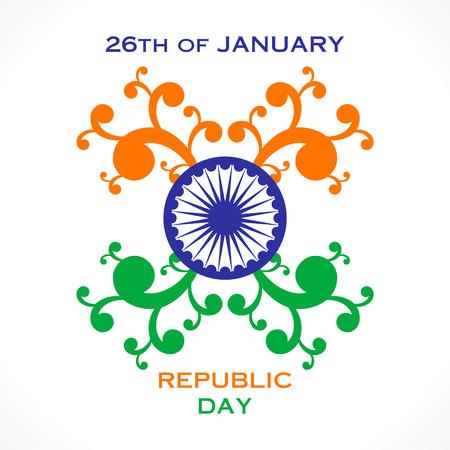 ashok: happy flora republic day greeting design vector