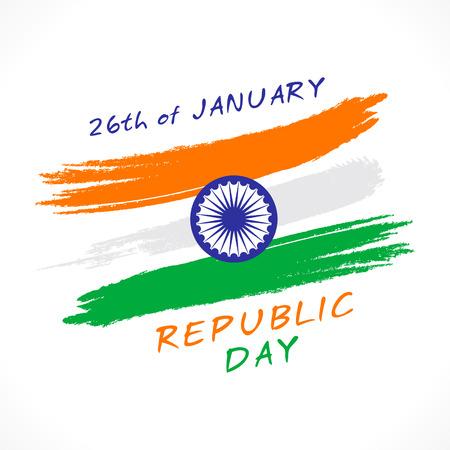 15: happy india republic day greeting design vector
