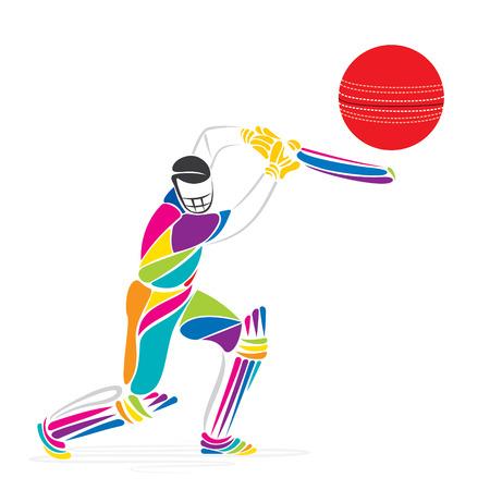 creatief cricket banner ontwerp vector