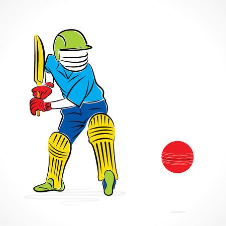 batsman: cricket player ready to hit the ball design vector