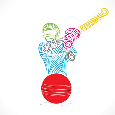batsman: batsmen hit the ball banner design vector