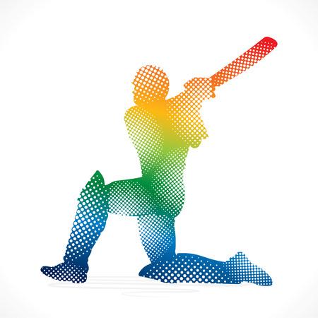 cricket ball: cricket design by halftone concept vector