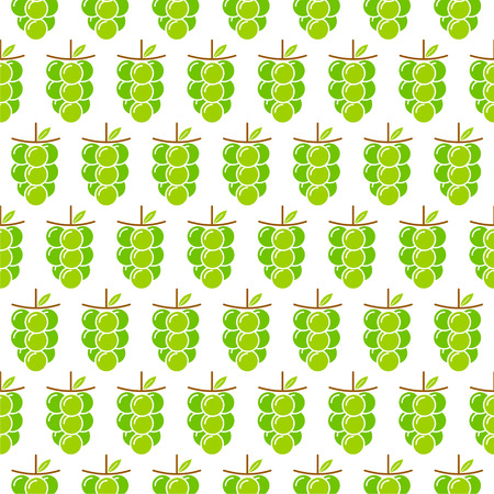 green grapes bunch pattern design for wrapping gift vector Vector