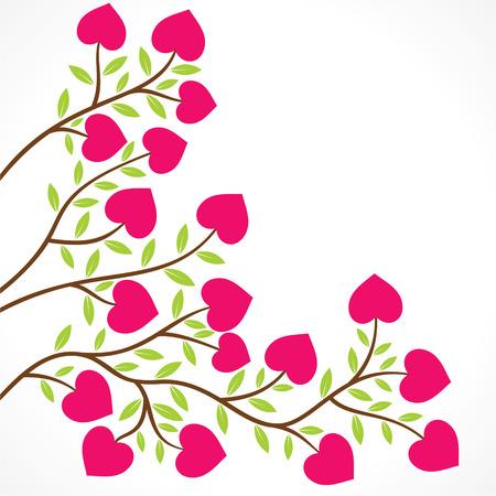 colorful heart shape flower plant design vector