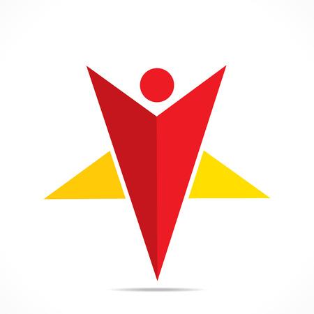 creative star shape men icon design concept vector Vector
