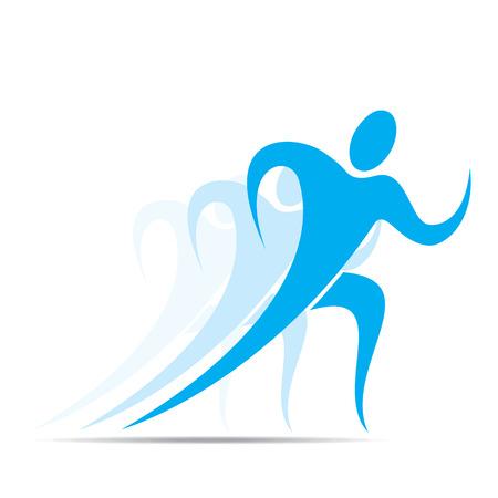 silueta hombre: competici�n o carrera acci�n icono de dise�o vectorial