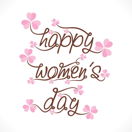 happy womens day greeting design vector