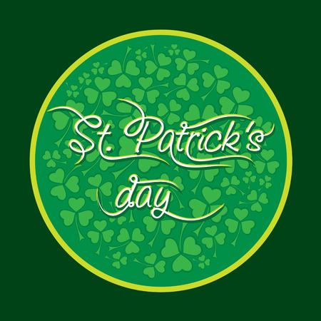 patrick day: happy St. Patrick day greeting design vector Illustration