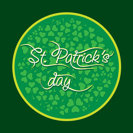 happy St. Patrick day greeting design vector Illustration