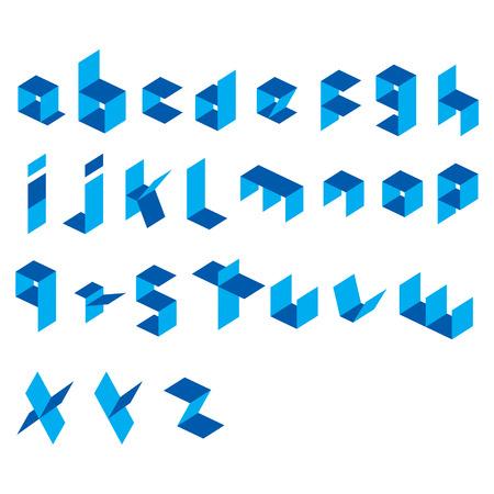 rectangle: creative rectangle alphabet  design vector