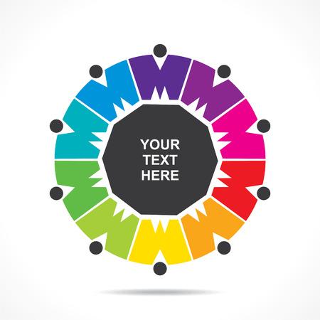 reunion de personas: icono el trabajo en equipo creativo dign� concepto vector