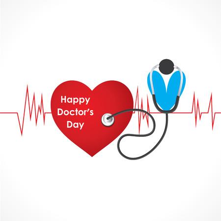 gelukkig arts dag ontwerp vector Stock Illustratie