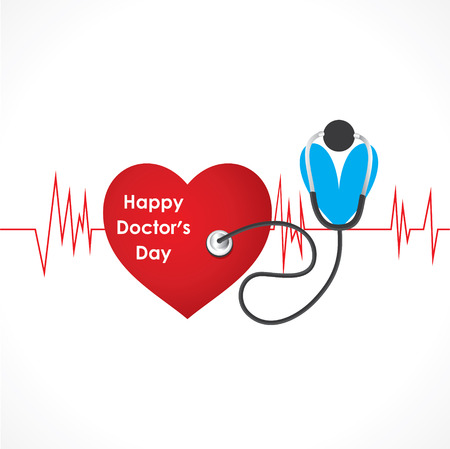 happy doctor day design vector