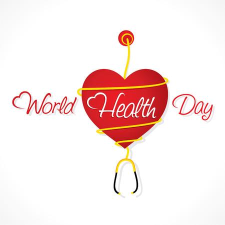 subjective: creative world health day design vector Illustration