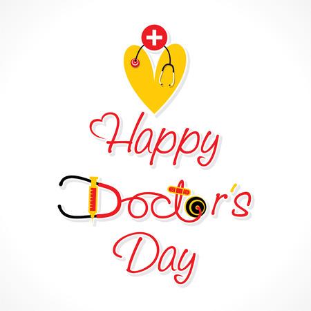 doctor symbol: happy doctor day design vector