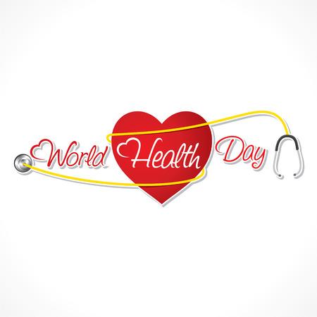 nacional: día mundial de la salud diseño vector de la bandera Vectores