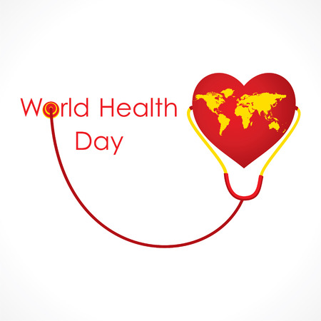 global health: world health day banner design vector