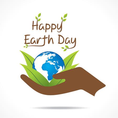 Vecteur de conception de jour de la terre heureuse Banque d'images - 37239017