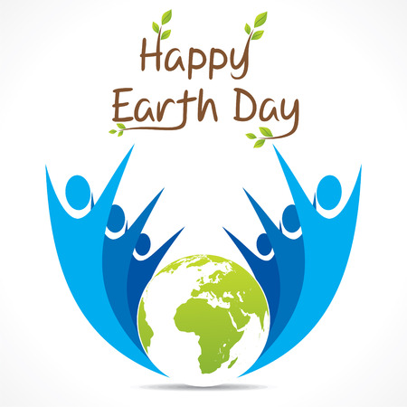 go green and celebrate earth day design vector