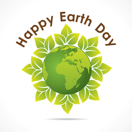 happy earth day greeting design vector Vector