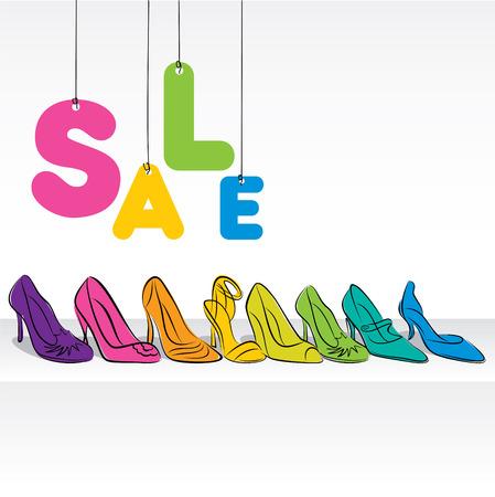 fashion footwear sale banner design vector