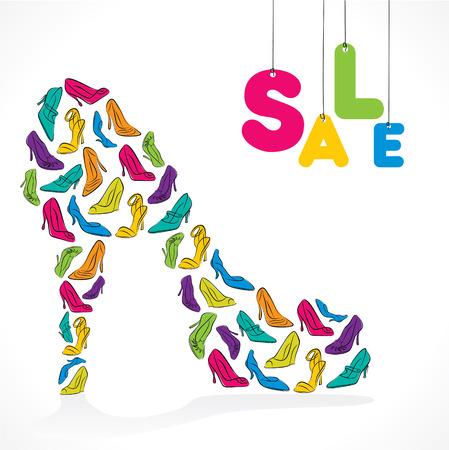 footwear: big fashion footwear sale banner design vector