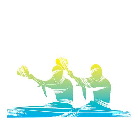 kayaking sport design vector