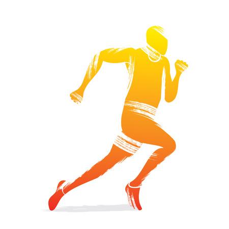 running men design vector