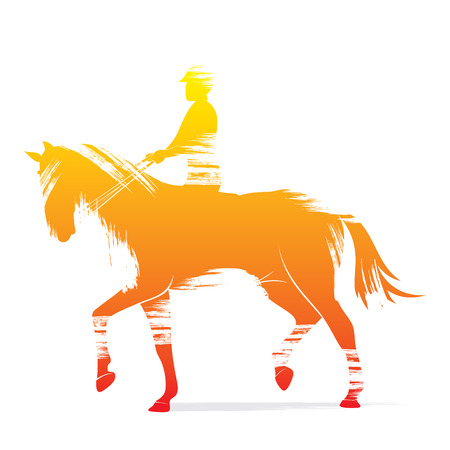 eventing: horse riding design vector Illustration