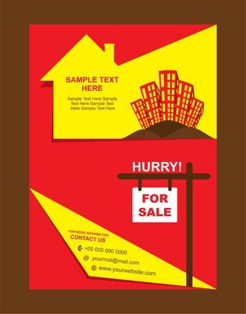 estate: real estate flyer design vector