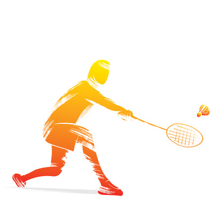 badminton player design vector
