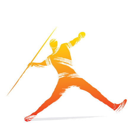 javelin: javelin player design vector