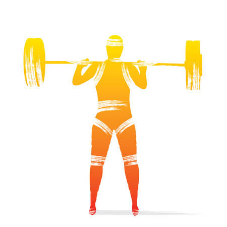 levantamiento de pesas: reproductor de pesas de diseño vectorial
