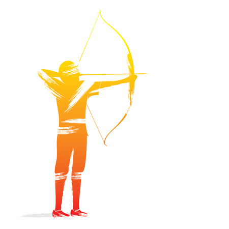 archery player design vector