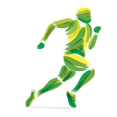silueta hombre: corriendo los hombres de dise�o por pincelada del vector