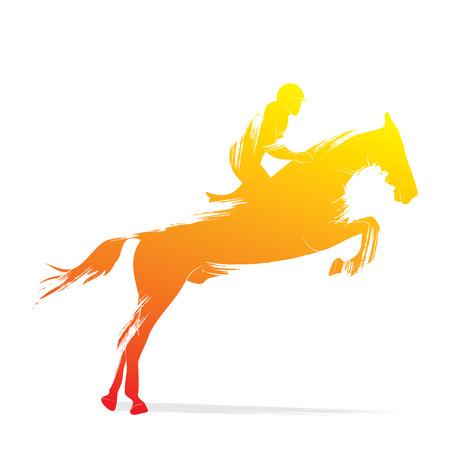 equitación diseño vectorial