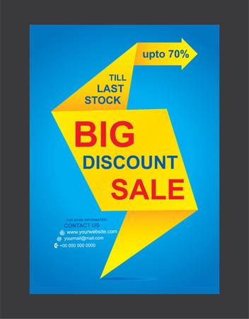 end of summer: big discount flyer design vector