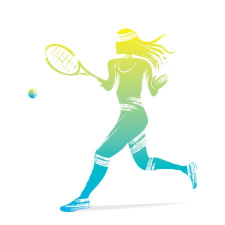 tennis women player design vector