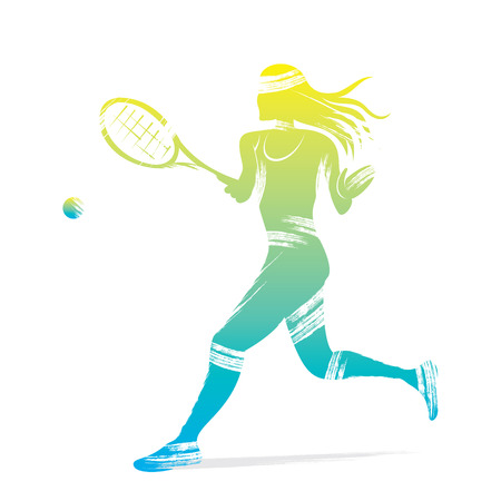 tennis women player design vector