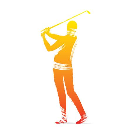 golf player: golf player design vector