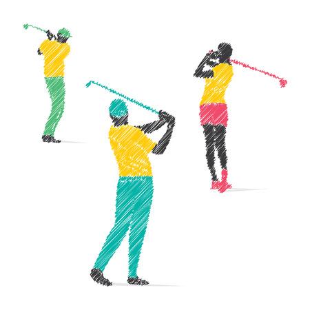 golf player design vector Vetores